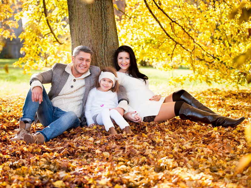 Farbenfrohes Familien Herbst-Fotoshooting in Kitzingen